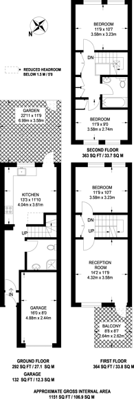 Large floorplan for Kemps Drive, Canary Wharf, E14