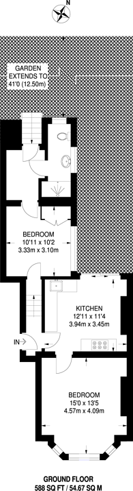 Large floorplan for Glasslyn Road, Crouch End, N8