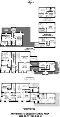 Large floorplan for Argyle Square, King's Cross, WC1H