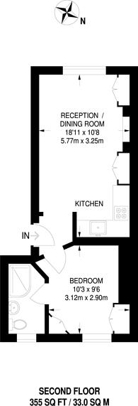 Large floorplan for Old Church Street, Chelsea, SW3