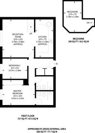 Large floorplan for Rosebery Avenue, Finsbury, EC1R