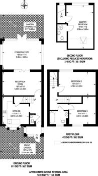 Large floorplan for Sidney Square, Whitechapel, E1