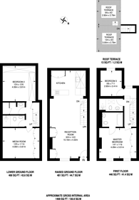 Large floorplan for Gregory Place, Kensington, W8