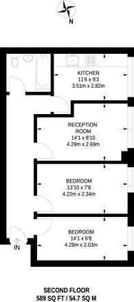 Large floorplan for Cricklewood Lane, Cricklewood, NW2