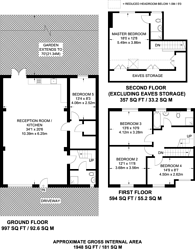 Large floorplan for Bowness Crescent, Kingston Vale, SW15