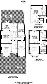 Large floorplan for Slough Lane, Kingsbury, NW9