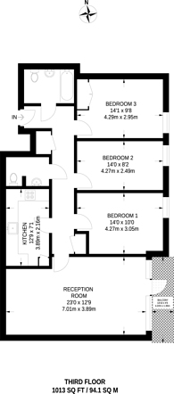 Large floorplan for Leven Road, Canary Wharf, E14
