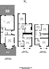 Large floorplan for Drury Close, Putney Heath, SW15