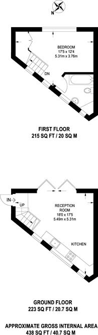 Large floorplan for Brixton Water Lane, Brixton, SW2