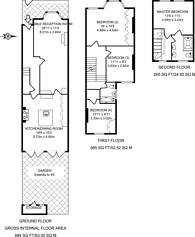 Large floorplan for Hamilton Road, South Wimbledon, SW19