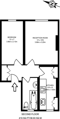 Large floorplan for Coningham Road, Shepherd's Bush, W12
