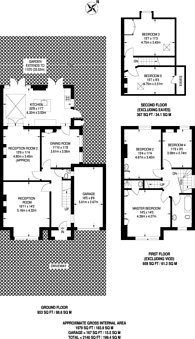 Large floorplan for Aldersmead Road, Beckenham, BR3