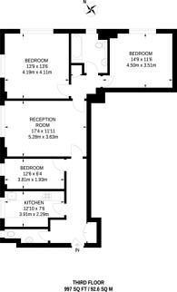 Large floorplan for Portsea Hall, Hyde Park Estate, W2