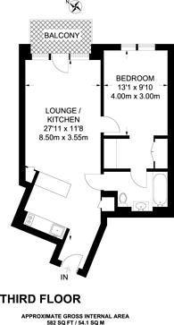 Large floorplan for Botanic Square, Docklands, E14