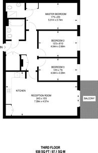 Large floorplan for Bioko Court, Bermuda Way, Stepney, E1