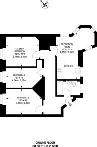 Large floorplan for Erasmus Street, Westminster, SW1P