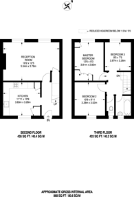 Large floorplan for Frensham Drive, Putney, SW15