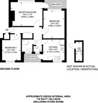 Large floorplan for Edensor Gardens, Chiswick, W4
