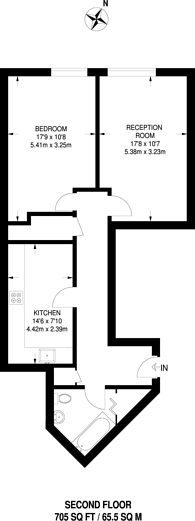 Large floorplan for Sweden Gate, Canada Water, SE16