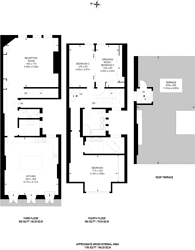 Large floorplan for Dunraven Street, Mayfair, W1K