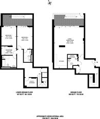 Large floorplan for Radnor Terrace, Kensington, W14