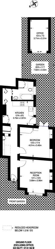 Large floorplan for Smallwood Road, Wandsworth, SW17