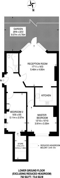 Large floorplan for The Grove, Ealing Broadway, W5