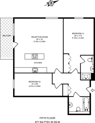 Large floorplan for Discovery Dock West, Canary Wharf, E14