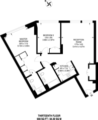 Large floorplan for Eagle Point, Old Street, EC1V