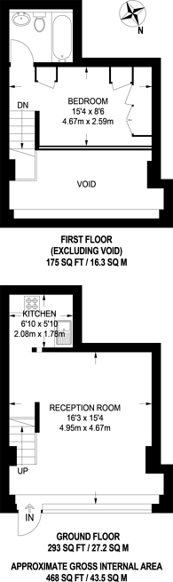 Large floorplan for Alaska Buildings, Bermondsey, SE1
