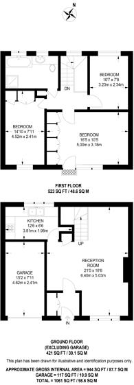 Large floorplan for Clarendon Mews, Hyde Park Estate, W2