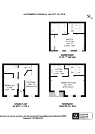 Large floorplan for Rutland Mews, St John's Wood, NW8