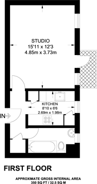 Large floorplan for John Aird Court, Little Venice, W2