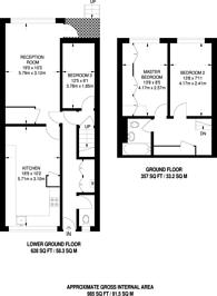 Large floorplan for Seaforth Crescent, Islington, N5