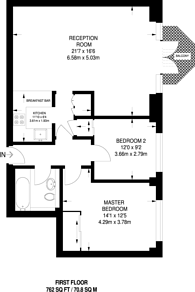 Large floorplan for New Wharf Road, Islington, N1