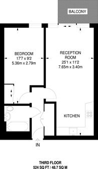 Large floorplan for White Horse Lane, Stepney, E1