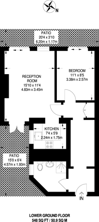 Large floorplan for Leinster Gardens, Bayswater, W2