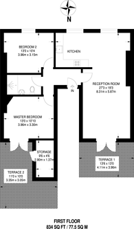 Large floorplan for Balls Pond Road, Islington, N1