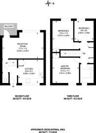 Large floorplan for Arden Estate, Hoxton, N1