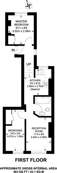 Large floorplan for Merton High Street, South Wimbledon, SW19