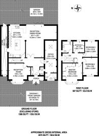 Large floorplan for Corringway, Park Royal, W5