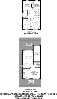 Large floorplan for Overbury Avenue, Beckenham, BR3