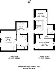 Large floorplan for Tilson Gardens, Clapham Park, SW2