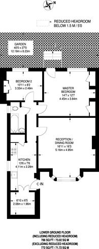Large floorplan for Westcombe Hill, Blackheath, SE3