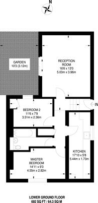 Large floorplan for Hackney Road, Bethnal Green, E2