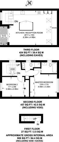 Large floorplan for Munster Road, Parsons Green, SW6