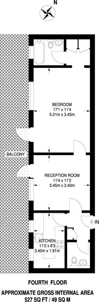 Large floorplan for Kensington Church Street, Kensington, W8
