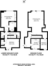 Large floorplan for Whitehall Court, St James's, SW1A
