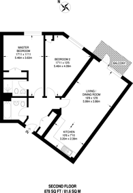 Large floorplan for Trinity Quarter, Guildford, GU1