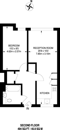 Large floorplan for Spectrum Way, Wandsworth, SW18